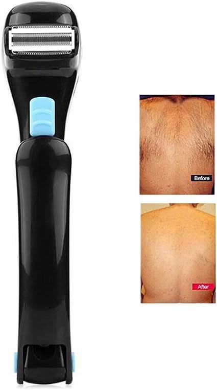 Máquina de afeitar eléctrica para espalda, afeitadora profesional plegable para el cuerpo Recortadora de vello ...