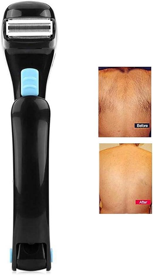 Máquina de afeitar eléctrica para espalda, afeitadora profesional plegable para el cuerpo Recortadora de vello corporal para hombres Recorte de recortadora de pelo ...