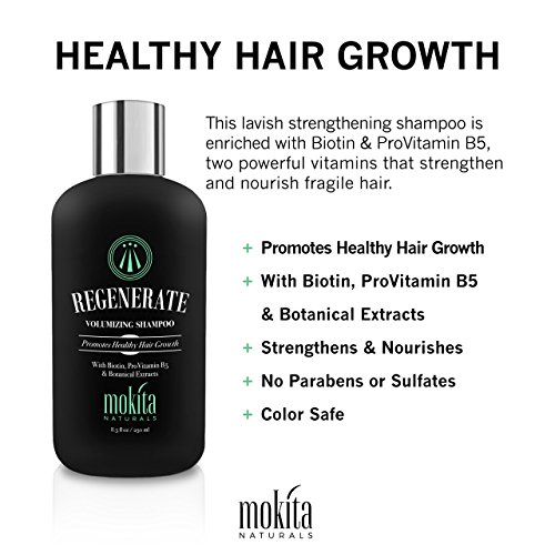 Hair Growth & Volumizing Shampoo Treatment 8.5 Oz | With Biotin, ProVitamin B5 & Botanical Extracts | Strengthen & Nourish Your Hair, Prevent Hair Loss Thinning & Breakage, Natural Hair Loss Products by Mokita Naturals (Image #3)