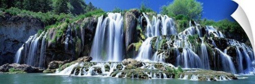 Canvas on Demand Wall Peel Wall Art Print entitled Tributary Waterfall Snake River Bonneville County ID 90