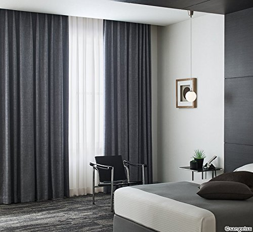 サンゲツ 高級感を感じさせる光沢と風合いの遮光カーテン カーテン2.5倍ヒダ SC3376 幅:250cm ×丈:300cm (2枚組)オーダーカーテン   B0784B4JJV