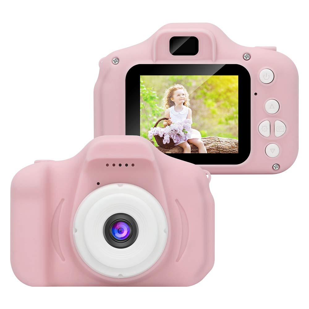 WABOLIN Kids Digital Video Camera for Girls Age 3-8 , Mini Pink Rechargeable Children Camera Shockproof 8MP HD Toddler Cameras Child Camcorder (16GB Memory Card Included) by WABOING (Image #2)