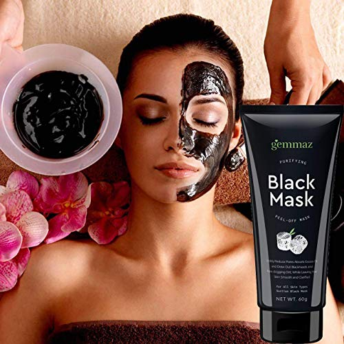 Black Mask Peel off Mask, Charcoal Purifying Blackhead Remover Mask Deep Cleansing for Acne & Acne Scars, Blemishes, Anti-Aging, Wrinkles, Organic Activated Charcoal by AsaVea (Image #6)