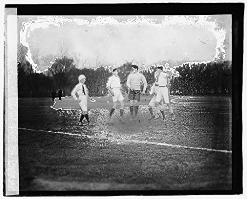 Vintography 16 x 20 Reprinted Old Photo Soccer 1921 National Photo Co 08a by Vintography