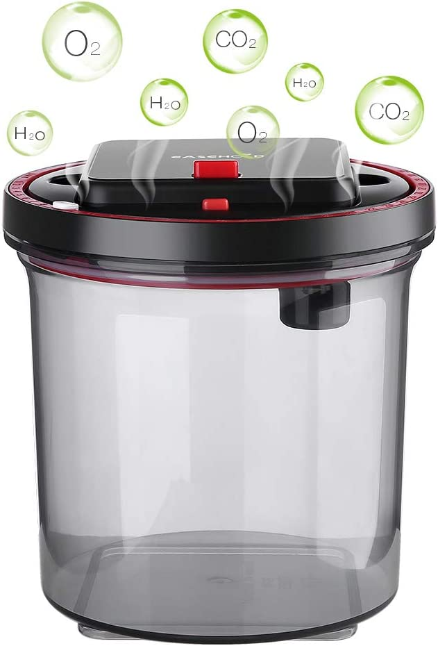EASEHOLD Vacuum Food Container Auto-Vacuum Canister Airtight Storage Jars for Tea Coffee Sugar