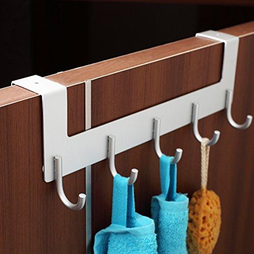 well-wreapped Space aluminum hook/No trace hook behind the door/coat and hat hook /row hook/ bathroom ideas link/Nail-free hook