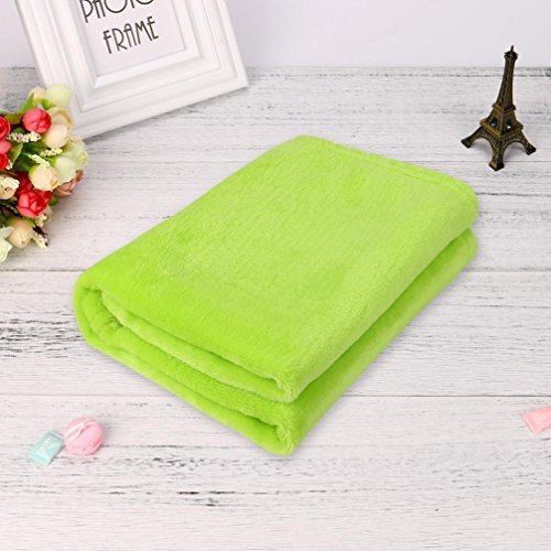 Ltrotted 50X70CM Fashion Solid Soft Throw Kids Blanket Warm