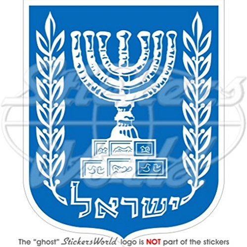 4 Vinyl Bumper Sticker Decal ISRAEL Israeli Coat of Arms Badge Crest 100mm