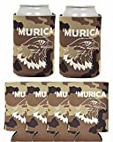 lakers streamers - Funny Can Coolie Murica Patriotic Bald Eagle 6 Pack Can Coolies Tan Camo