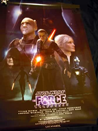 Star Wars Force Unleashed Employee Release Party Exclusive Poster Lucasarts Movie-style Artwork for the Xbox 360/PS3 Game