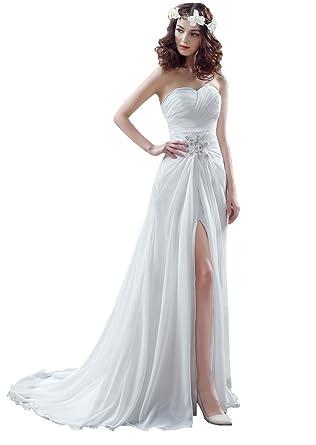a2e8474695c Beauty-Emily Maxi Rhinestone Pearl Ruffles A-Line Sleeveless Open-Side Tube  Sweetheart