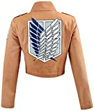 Cosplay Attack on Titan Shingeki no Kyojin Recon Corps Jacket Coat Costume (L)