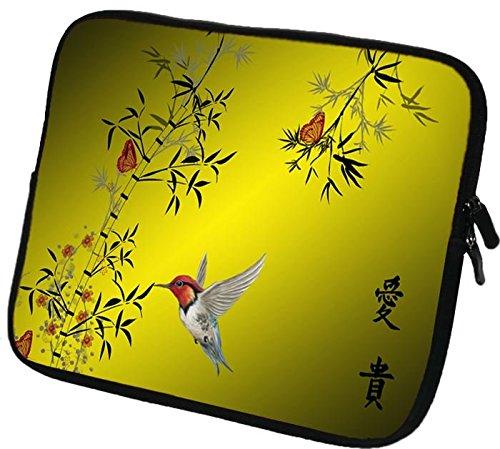 7,9-8,4 Zoll Tablet-PC (z.B. Apple iPad mini 4 3 2 Acer Iconia One 8 Allview Viva Q8 Asus Zenpad S 8.0 Dell Venue 8 Huawei MediaPad T1 8.0 odys Pro Q8 Connect 8+ Samsung Galaxy Tab S 8.4 LTE ) Schutzhülle - sehr hochwertige & edel verarbeitete Tablettasche Tablethülle aus wasserfesten Neopren mit eingenähter Doppelnaht, premium Reißverschluss und aufwendigen Designeraufdruck! Die Hülle eignet sich für Tablet-Computer diverser Hersteller bis 222x144cm ( zirka 7,9