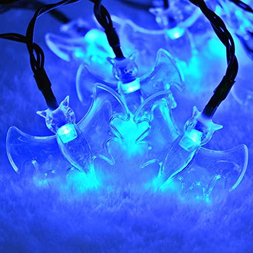 SISIMOM Halloween String Lights,10/20/40 LED Bat Holiday Lights, Fairy Decoration Gift Decoration String Lights-for Holiday, Festival, Party Decor (Blue Light,8ft 20leds) -
