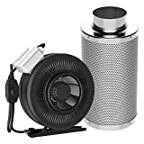 6 inch duct fan carbon filter - VIVOSUN 6 Inch 440 CFM Inline Duct Fan with 6