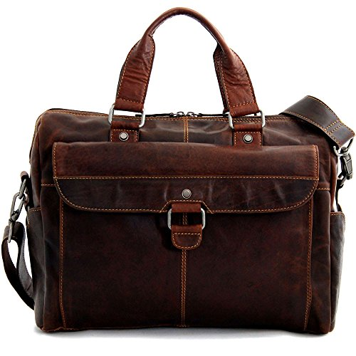 Jack Georges Voyager Top Zip Briefcase with Front Pocket - Business Case Jack Georges