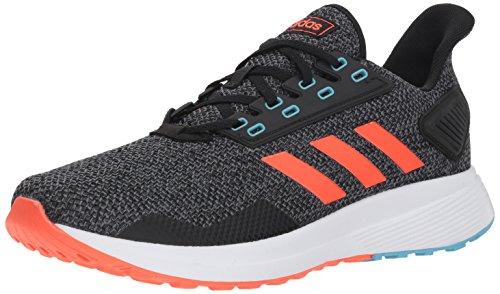 08a6fad3b7509 adidas Men's Duramo 9 Running Shoe, Core Black/Solar Red/Grey, 11 M US