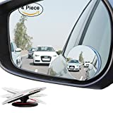 """Ampper Upgrade 2"""" Blind Spot Mirrors, 360 Degree Rotate Sway Adjustabe HD Glass Convex Wide Angle Rear View Car SUV Universal Fit Stick-On Lens (Pack of 4)"""