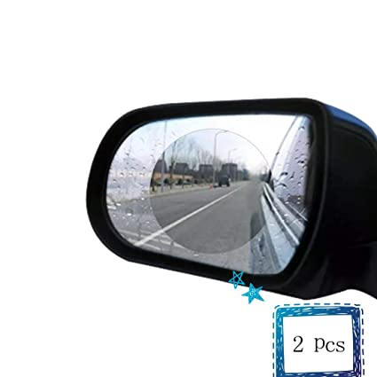 Oval 150mm x 100mm Car Rear View Mirrors Anti-Fog Waterproof Window Clear Glass Film Rainproof Membrane for All Universal Vehicles Cars SUVs etc MoKo Rearview Mirror Protective Film, 2PCS