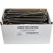 100 Extra Heavy Duty Garden Landscape Fabric Anchor Staples 9 Gauge Thick Steel Professional Grade Made in the USA By Pinnacle Mercantile
