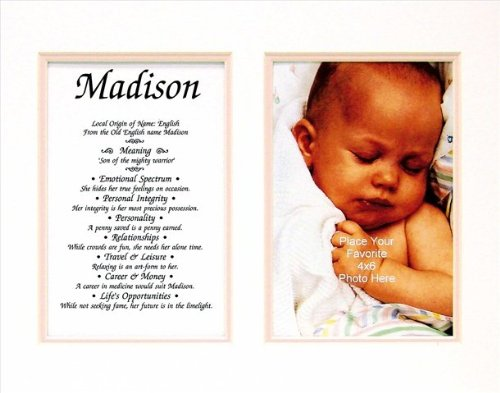 Townsend FN02Macy Personalized Matted Frame With The Name & Its Meaning - - Macys Frames