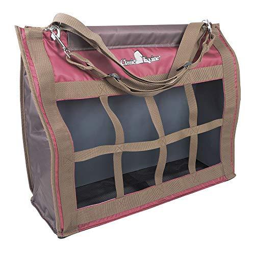 (Classic Equine Adjustable Strap Horse Top Load Hey Bag Marsala/Caribou )
