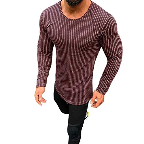 OrchidAmor Men's Solid Raglan Baseball Tee T-Shirt Unisex Long Sleeve Casual Athletic Performance Jersey Shirt Wine ()
