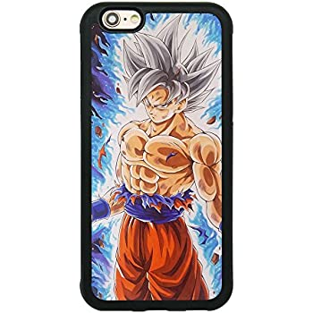 uk availability 64b04 1dec8 Dragon Ball Super Z Son Goku Ultra Instinct Japanese Anime Case for iPhone  6/6S (4.7 Inch) Comic TPU Silicone Rubber Gel Edge + PC Bumper Case Skin ...