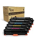 V4INK New Replacement for HP 305A CE410X CE411A CE412A CE413A Toner Cartridge for use with HP LaserJet Pro 400 Color MFP M451nw,M451dn, M451dw, MFP M475dn, MFP M475dw, Pro 300 Color MFP M375nw(2KCMY)