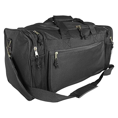 DALIX 20' Sports Duffle Bag w Mesh and Valuables Pockets Travel Gym