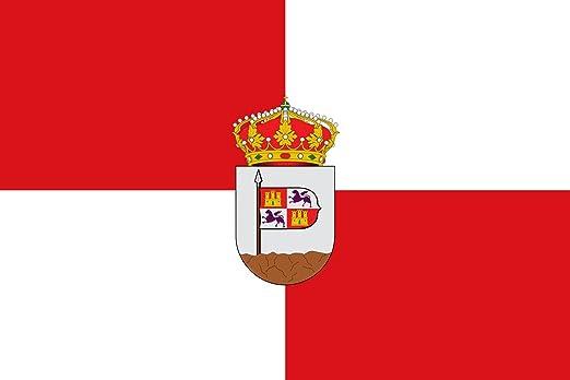 magFlags Bandera Large Municipio de Lanzahíta Castilla y León | Bandera Paisaje | 1.35m² | 90x150cm: Amazon.es: Jardín