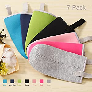 Sunkey 7 Pack Glass Water Bottle Sleeve 18oz - 19.4 oz Neoprene Insulated Collapsible Drink Bottle Covers Carrier Sleeve, Multi-color