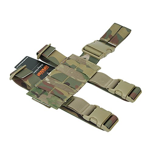 EXCELLENT ELITE SPANKER Tactical Drop Leg Holster Adjustable Drop Leg Platform Molle Module Universal Bag for Left/Right Leg(MCP)