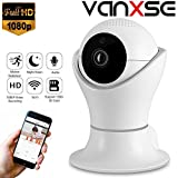 Vanxse CCTV 2.0MP 1080P IR Night Vision WiFi Wireless Pan/Tilt Network IP Camera Webcam Remote View for Home Security and Surveillance(DLS002) Review