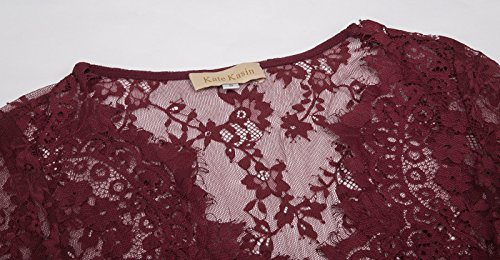 Través Encaje Cuello Mujeres de Kasin® a Profundo Vestido en Vino de Ver Maxi V Kate Vestido Embarazadas PwZXU