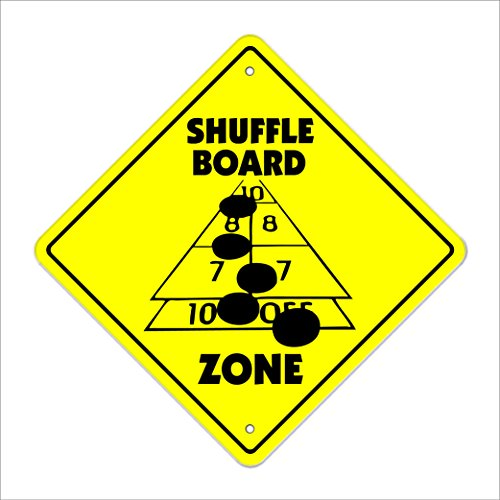 Shuffle Crossing Sign Zone Xing | Indoor/Outdoor | 12