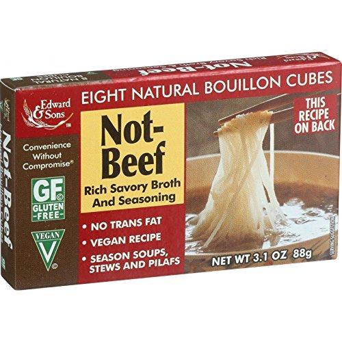 Edward & Sons Not Beef Bouillon Cubes, 3.1 oz ()