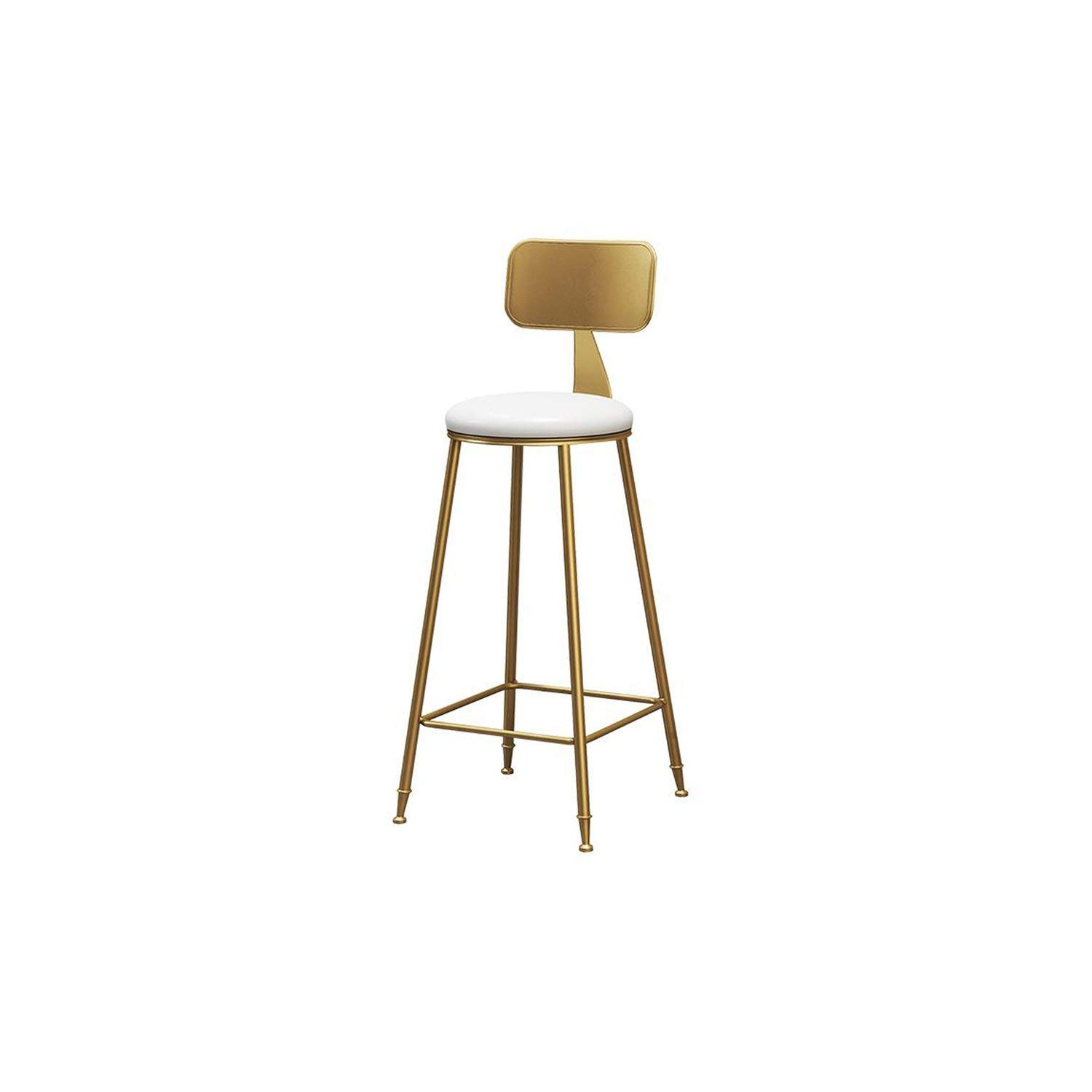 45cm Style4 tthappy76 Nordic Wrought Iron Bar Stool Modern Minimalist Home Backrest Dining Chair High Stool Cafe Bar Stool Bar Stool,65Cm Style19