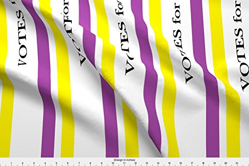 Printed Sash Satin - Spoonflower Reenacting Fabric Suffragist Sash - Yellow and Violet by Fentonslee Printed on Satin Fabric by The Yard