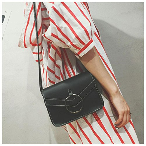 Women Mini New Retro ZOMUSA Black Simple Crossbody Bag Shoulder pw55FqxOI