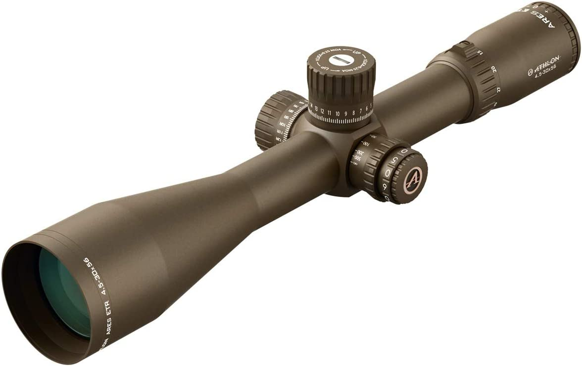 Athlon Optics Ares ETR Riflescope 4.5-30×56 34mm APLR2 FFP IR MOA Reticle