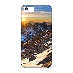 For Iphone 5c Protector Cases Sunset In Mountains Phone Covers