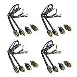 4) Kicker KISL 2-Ch High Level Speaker Wire to RCA Adapters Hi Lo Convert- 1 Ft