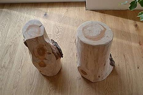 Tronco d albero sgabello legno massello massiccio tavolino natura