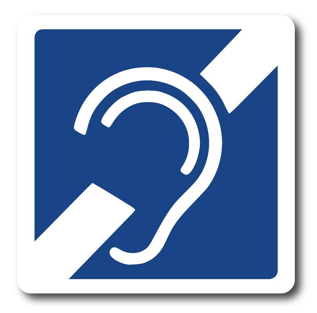 Amazon International Deaf Symbol Reflective Decals Small