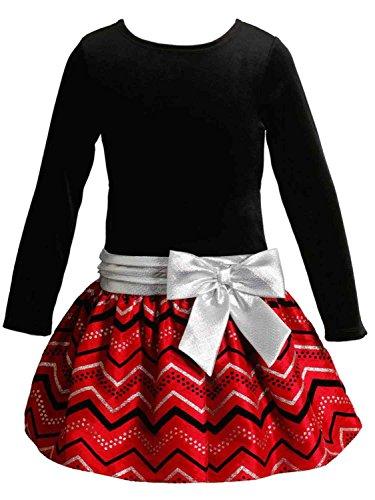 Black Velour Holiday Dress - 6