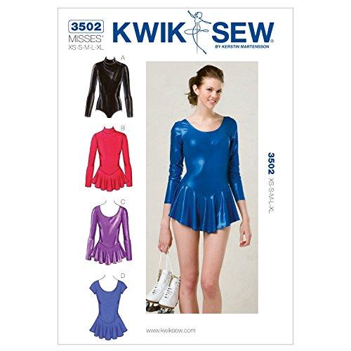 (Kwik Sew K3502 Leotards Sewing Pattern, Size XS-S-M-L-XL)