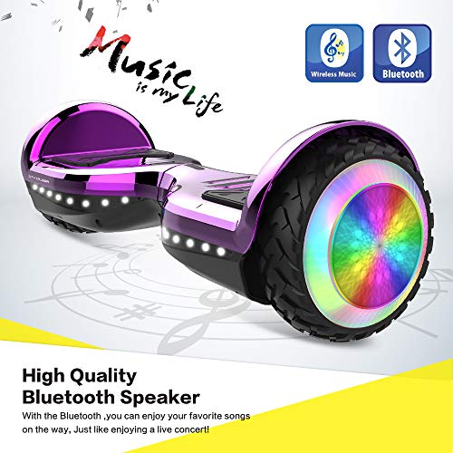 CITY CRUISER Hoverboard with Bluetooth Speaker, LED Light by UL 2272 Certified Best Gift for Kids Purple by CITY CRUISER (Image #2)