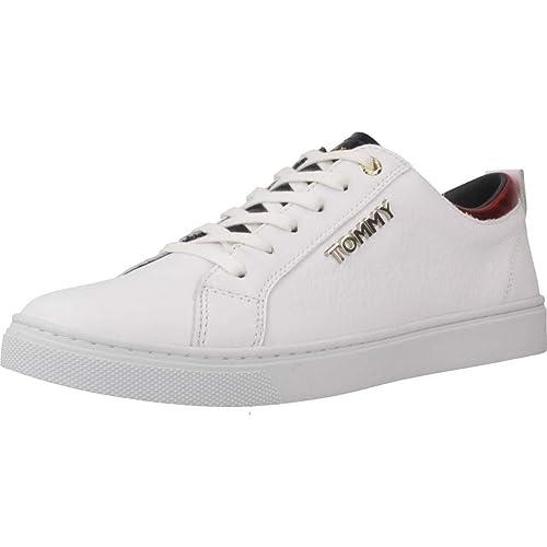 Tommy Hilfiger Sneaker White FW0FW03776100 Zapatillas para Mujer: Amazon.es: Zapatos y complementos