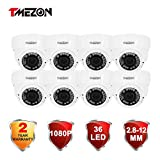 TMEZON 8 Pack OSD AHD Camera HD 2.0MP 1080P 2.8-12mm Varifocal Zoom 36IR LEDs Hybrid 4-In-1 Surveillance Security Camera Review